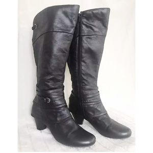 BARE TRAPS RALEIGH Black Faux Leather High Boots